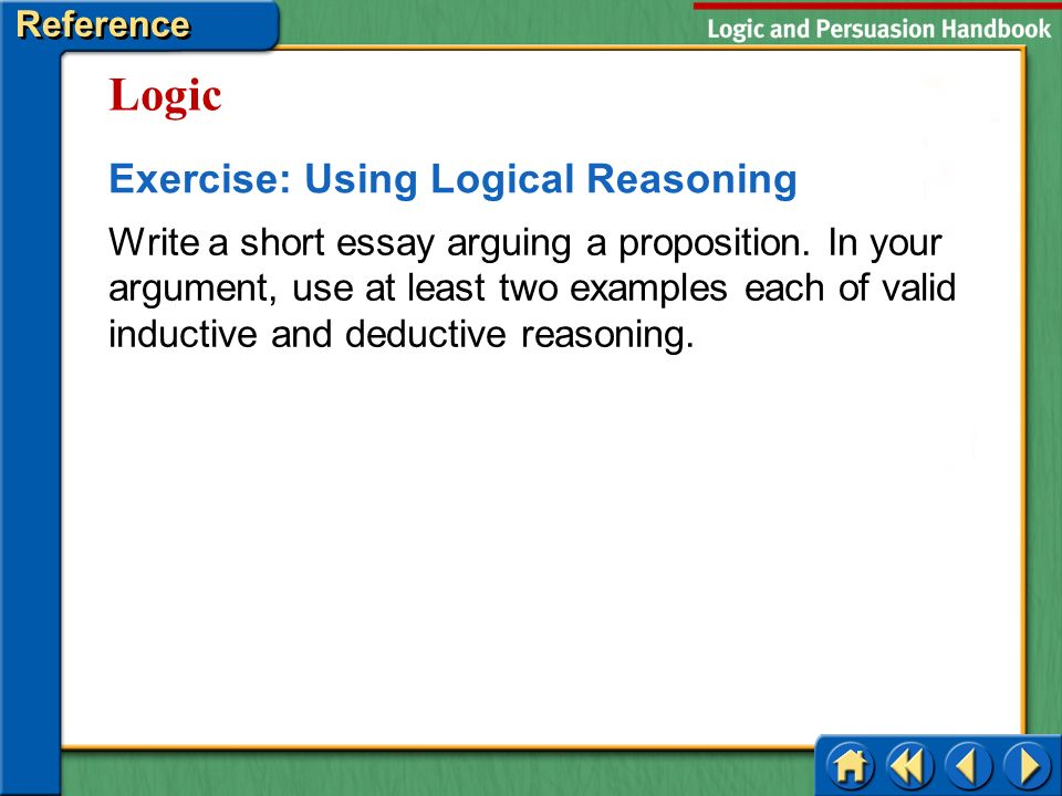 short essay example on deductive reasoning