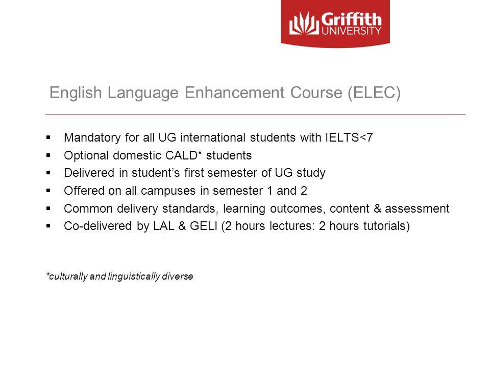 English Language Enhancement Course (ELEC)
