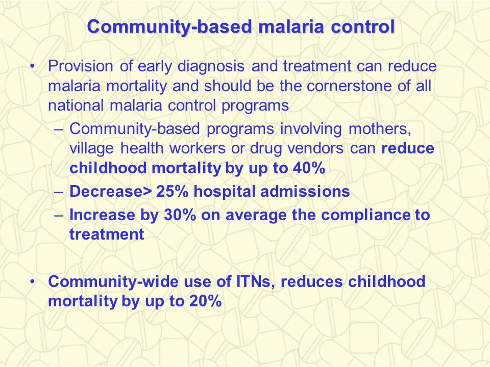 Community-based malaria control
