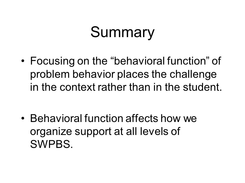 functions of challenging behavior As a teacher, all children need to be challenged and nurtured in order to profit from your instruction instruction that is above or below the maturity level of a child's brain is not only inappropriate it can also lead to behavior problems in your classroom.