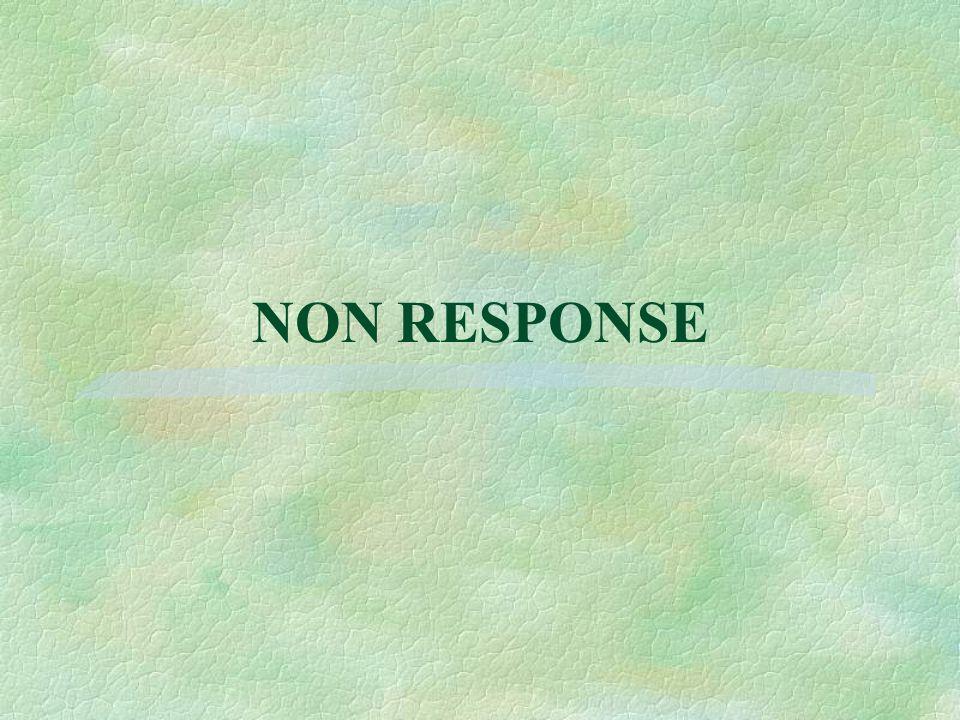 NON RESPONSE