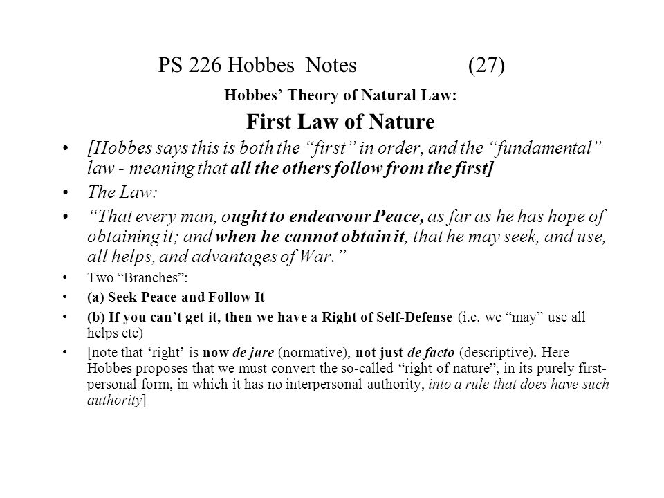 """hobbes laws of nature essay The theory of """"natural law"""" first originated in  which enables them to respond to hobbes three fundamental laws of nature  haven't found essay you."""