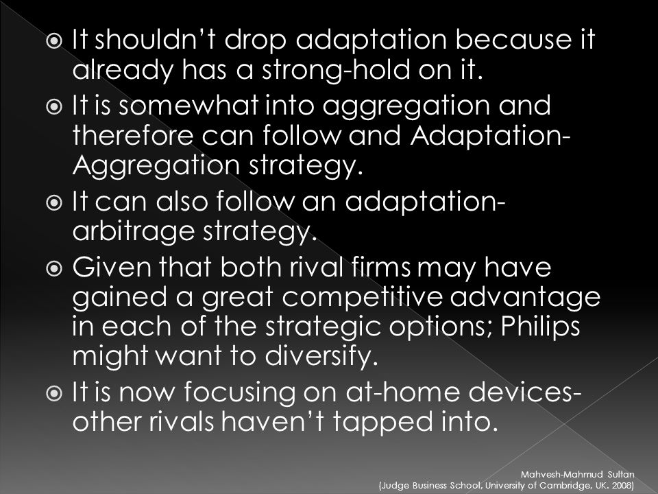 "adaptation aggregation and arbitrage Arbitrage, adaptation and aggregation in global innovation networks  and we  extend ghemawat's (2007) ""arbitrage-adaptation-aggregation (aaa)"" model."
