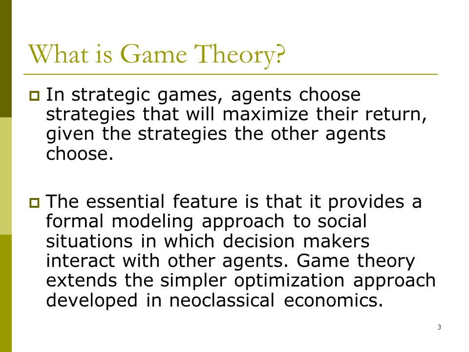 application of game theory in economics pdf