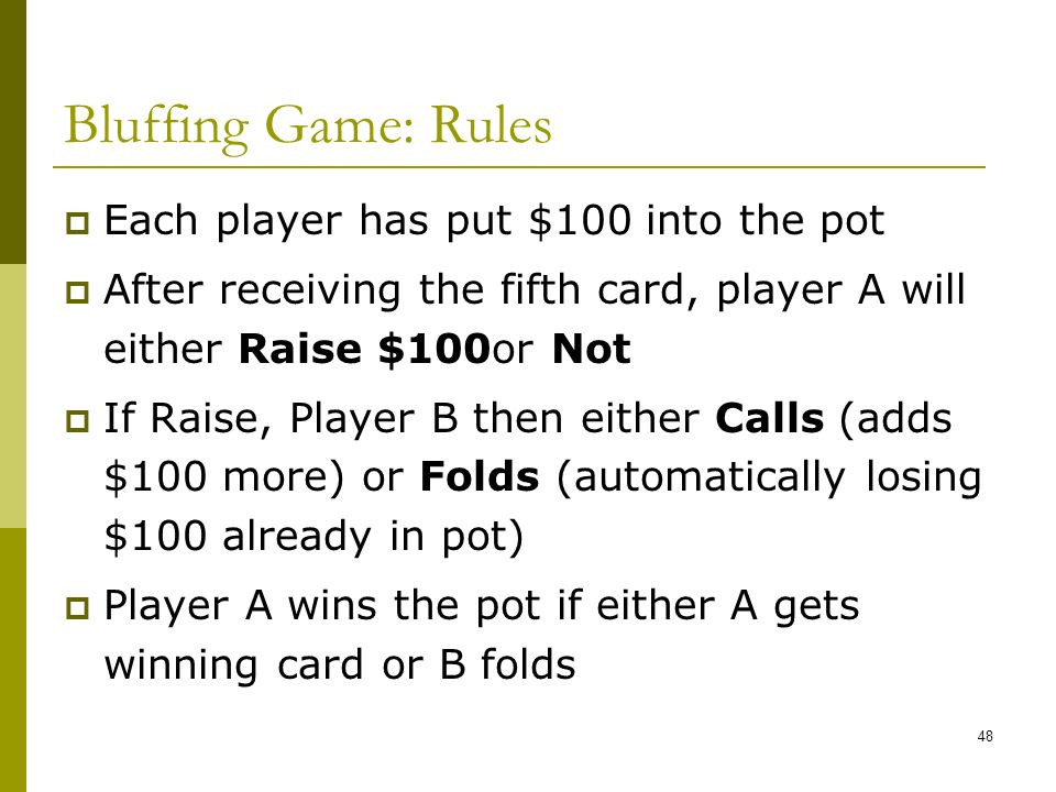 bluff rules card game