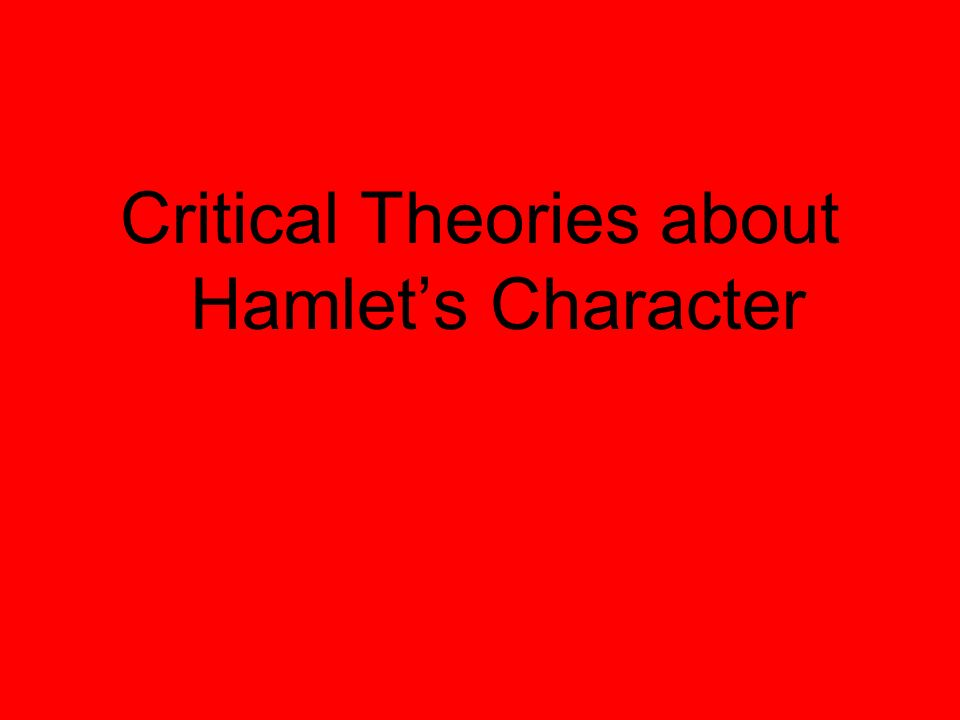 an analysis of the antic disposition of the character of hamlet Here, he warns his friends that he will put on an antic disposition—ie, pretend to be a madman: (hamlet 1) this thought allows the reader to second-guess his actions throughout the play to categorize hamlet as a madman or a genius.