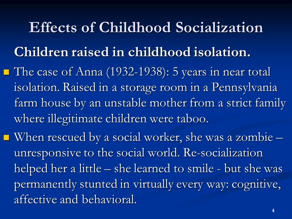 effect of disabilty of child socialisation processes The effect of disabilities on play skills a disability, handicapping condition, or delay can affect how a child plays, the kinds of play the child engages in, and the child's ability to use play as an avenue to learning and generalizing new skills or concepts.