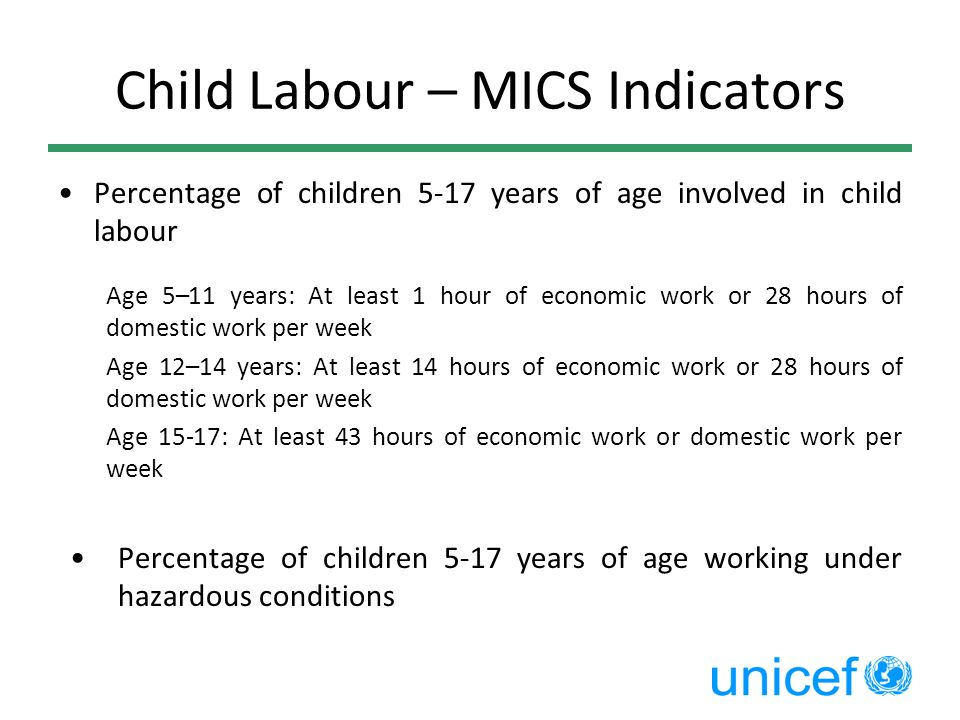 Child Labour – MICS Indicators