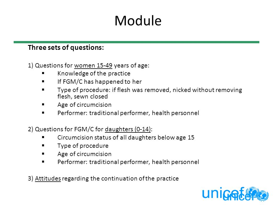 Module Three sets of questions: