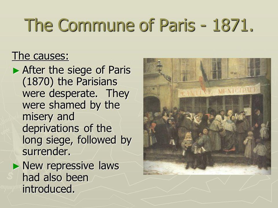 The Commune of Paris - 1871. The causes: