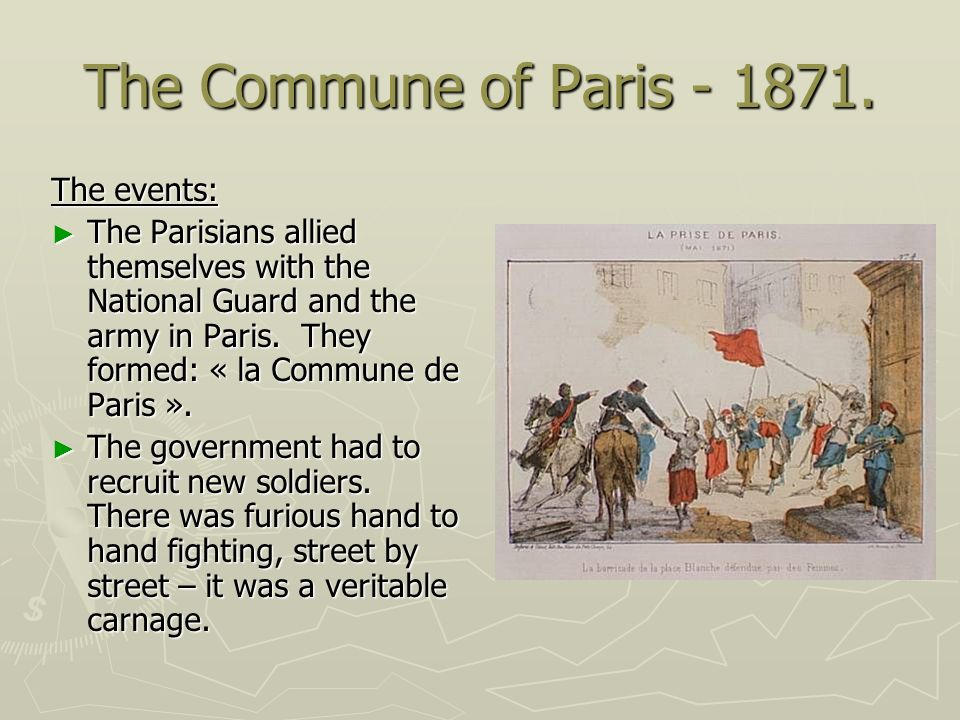 The Commune of Paris - 1871. The events: