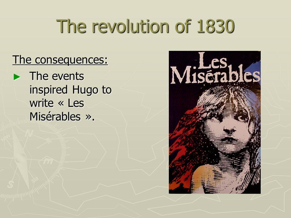 The revolution of 1830 The consequences: