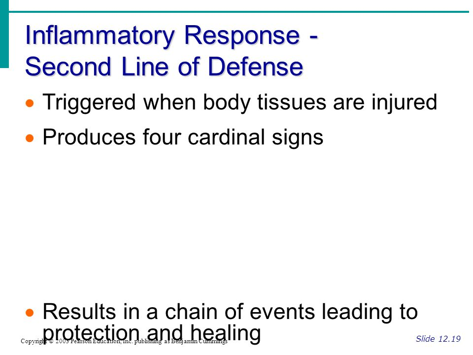 Inflammatory Response - Second Line of Defense
