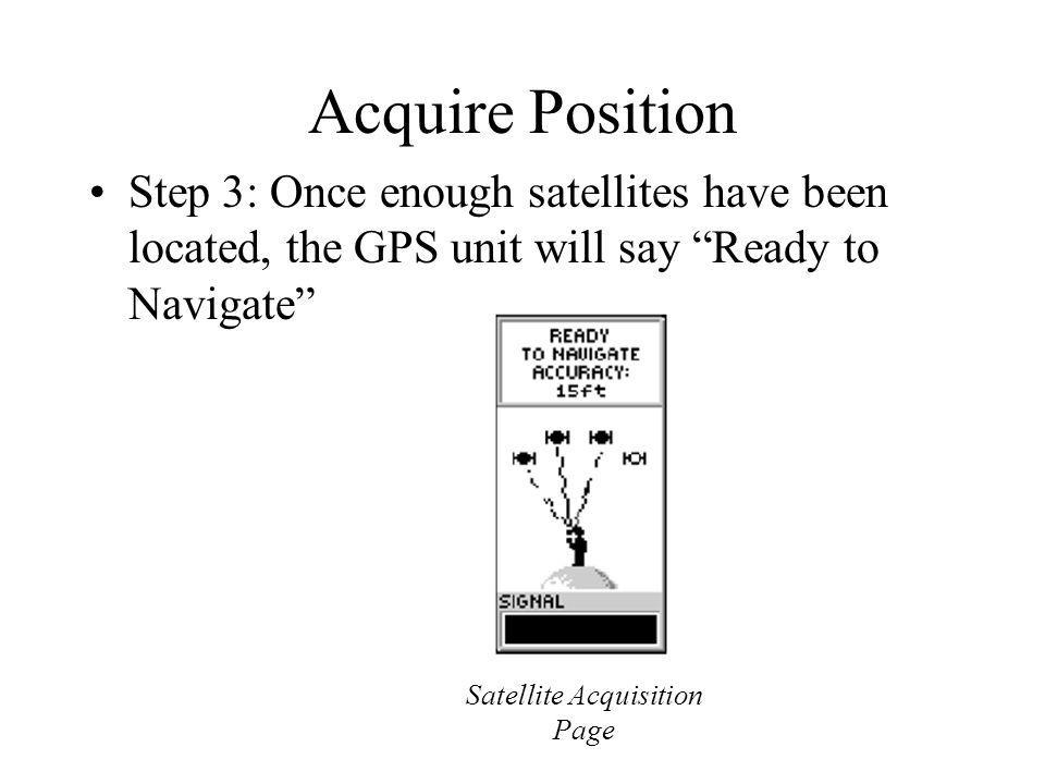 Satellite Acquisition Page