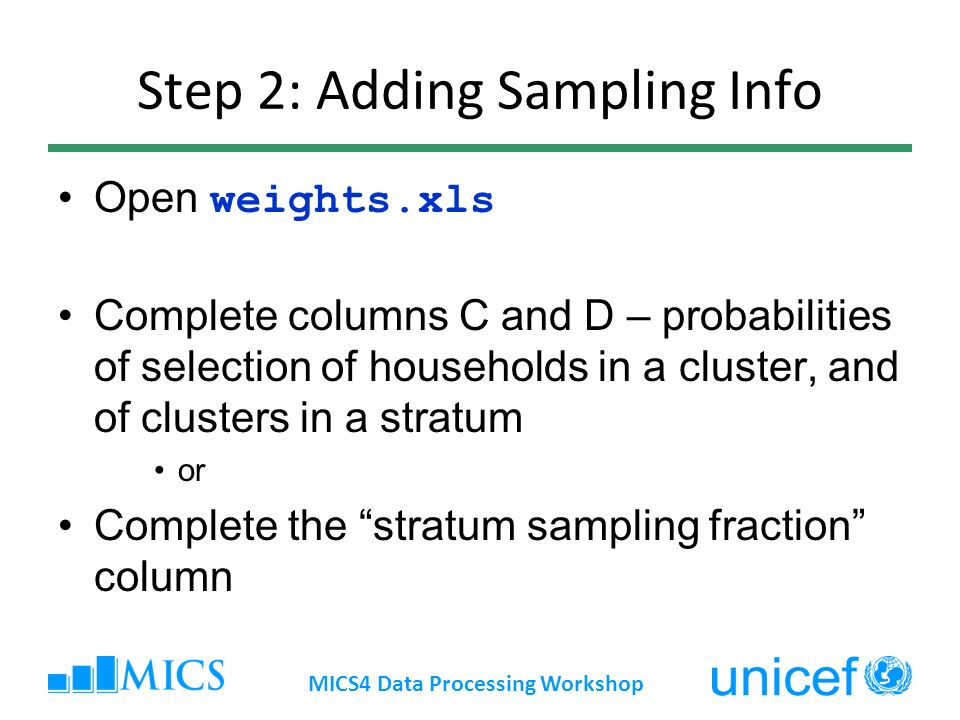 Step 2: Adding Sampling Info