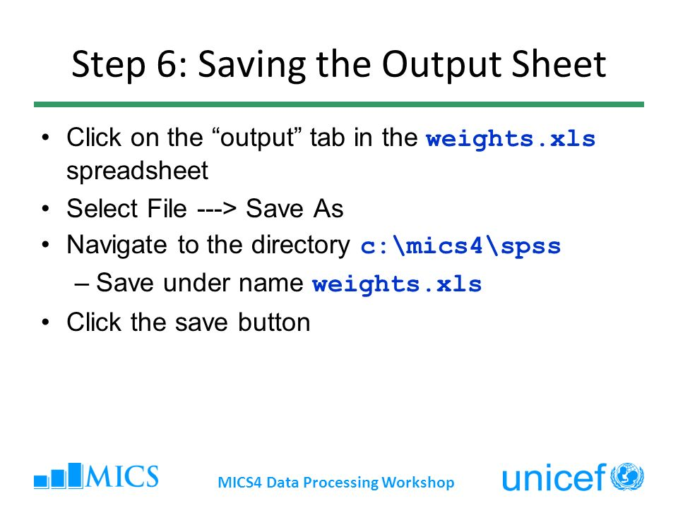 Step 6: Saving the Output Sheet