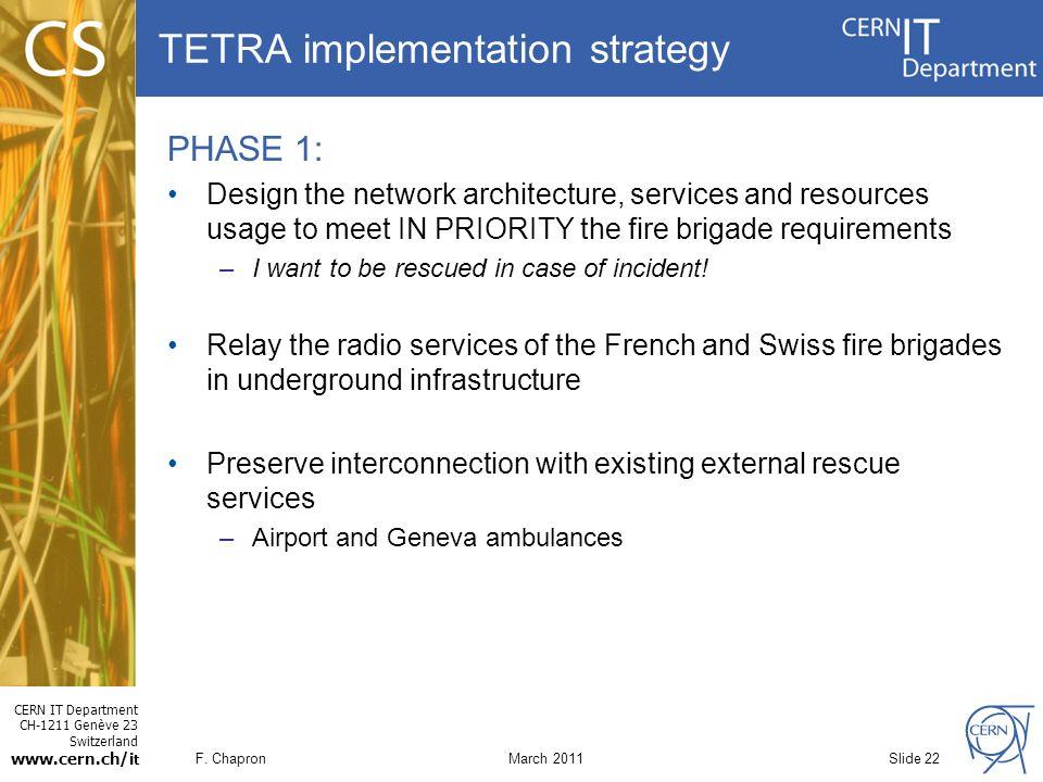 Tetra modern radio cern ppt video online download for Network design and implementation plan
