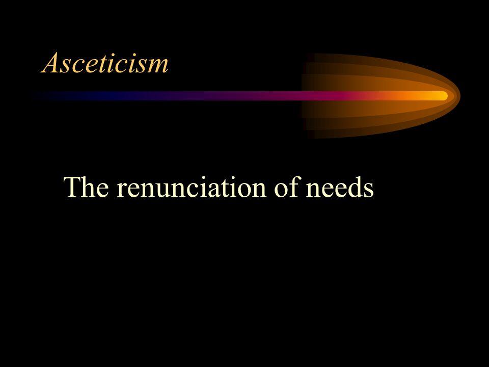 asceticism and renunciation Wimbush and valantasis, edd, asceticism  daniel boyarin, body politic  among the brides of christ: paul and the origins of christian sexual  renunciation,.