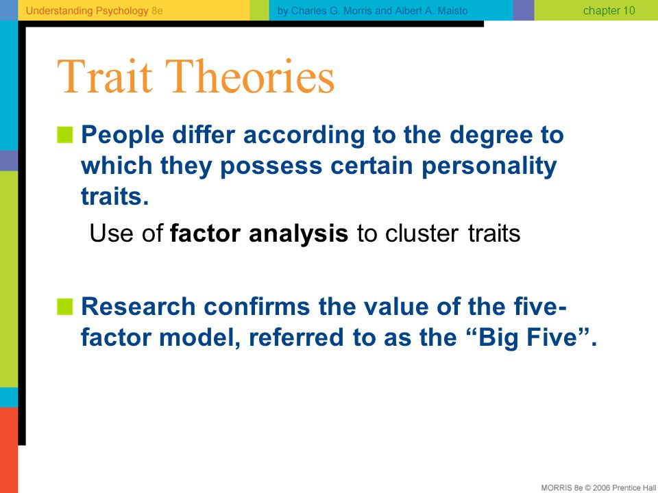 big five trait clusters Paul costa & robert mccrae (whataboutthem)  the search of the big five  the three-factor theory of eysenck and the five-trait theory of mccrae and costa have.