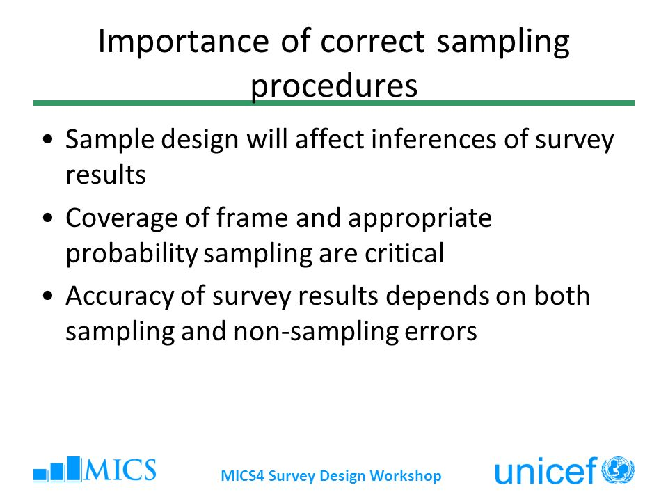 Importance of correct sampling procedures