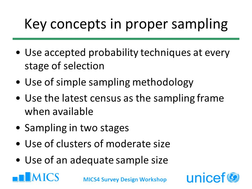 Key concepts in proper sampling