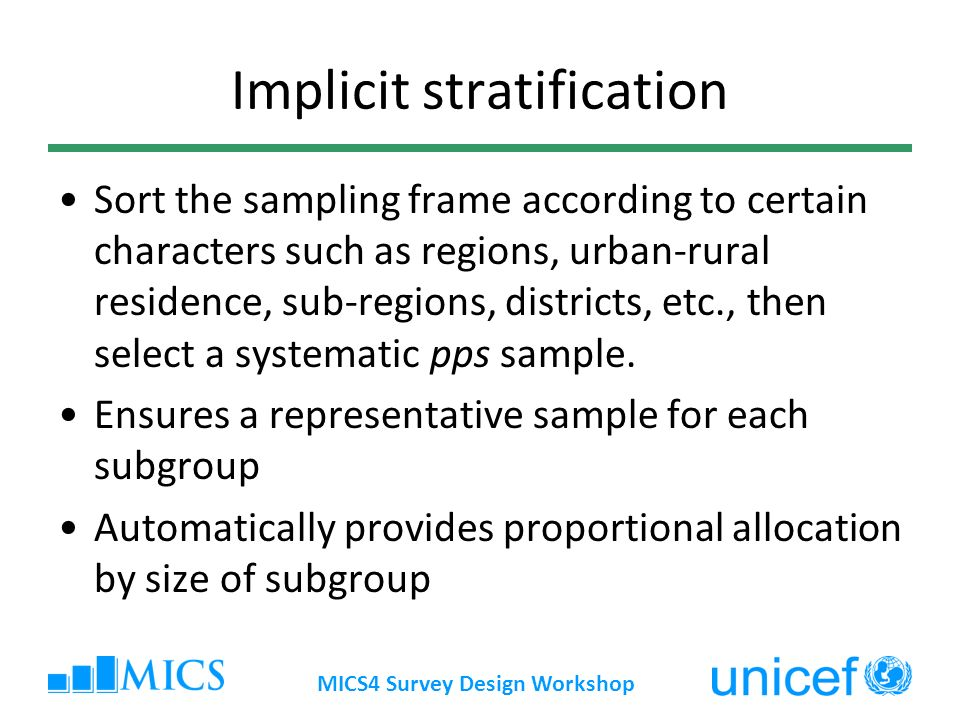 Implicit stratification