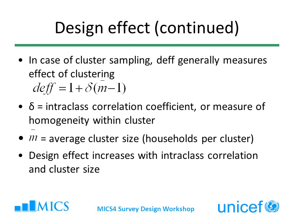 Design effect (continued)