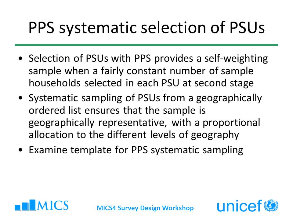 PPS systematic selection of PSUs