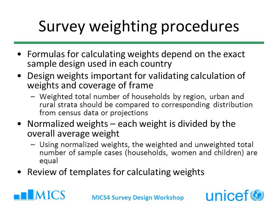 Survey weighting procedures