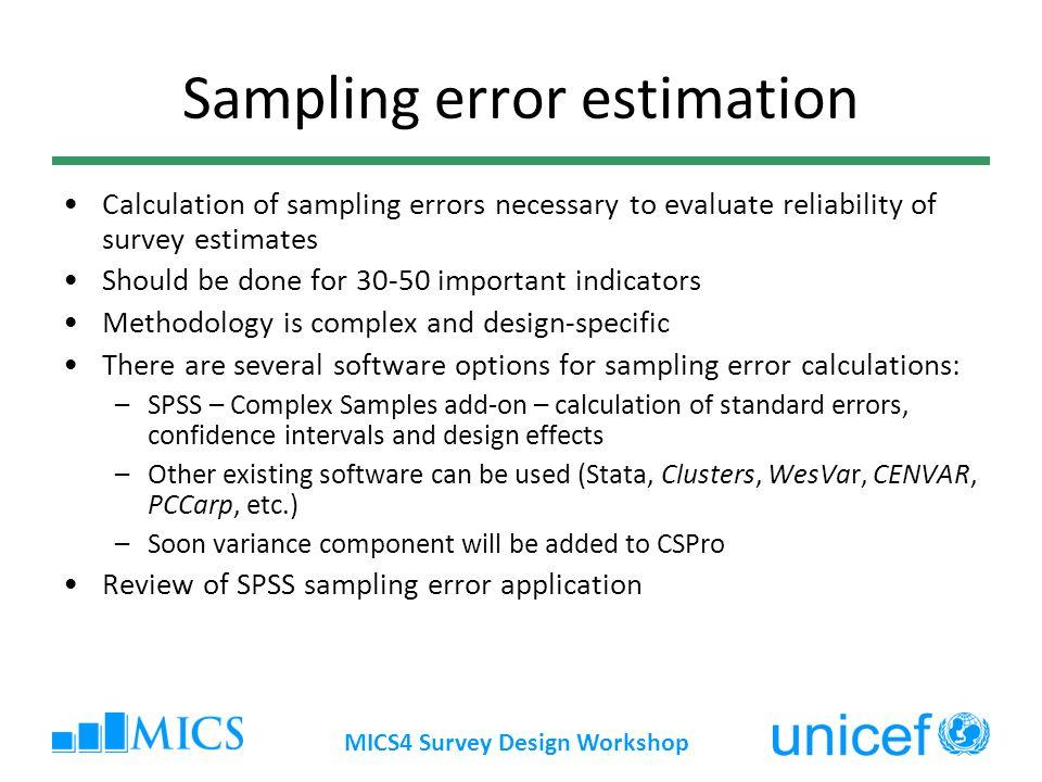 Sampling error estimation