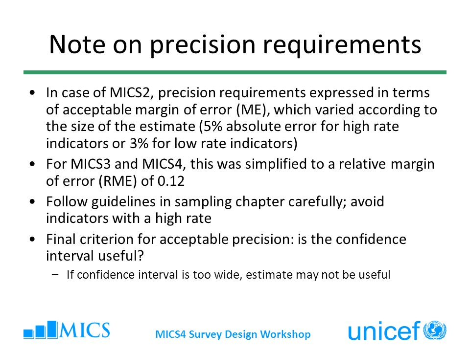 Note on precision requirements