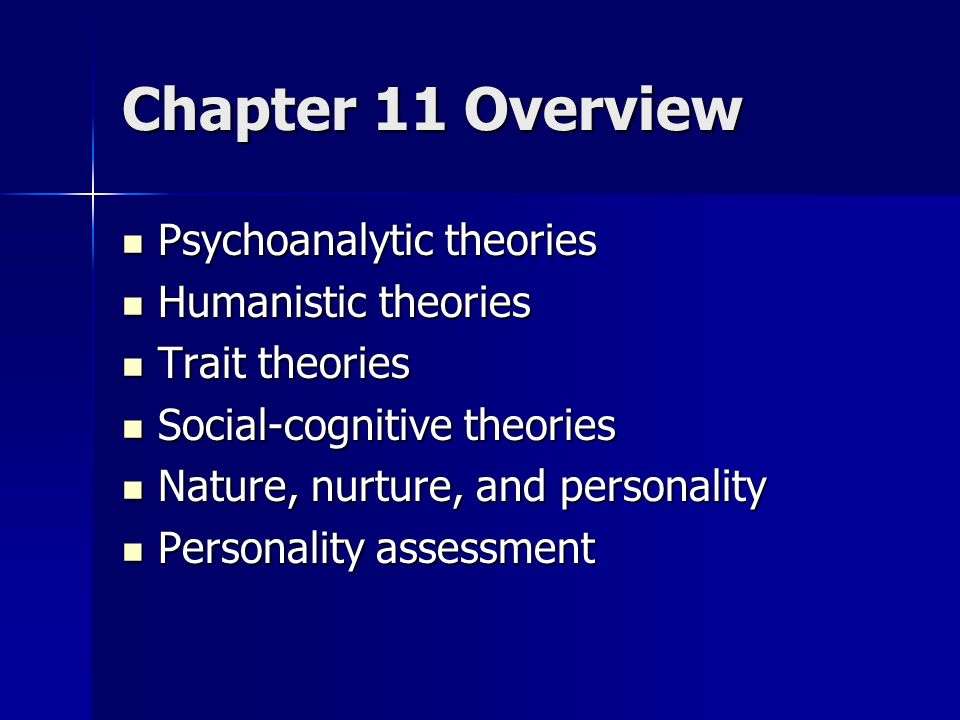 psychoanalytic and trait approaches personality assessment Personality - trait theories: contemporary personality studies are generally empirical and based on experiments while they are more precise, and thus may be more valid than much of psychoanalytic theory, experiments perforce have a narrower scope than the grand sweep of psychoanalysis in the 1940s many investigators focused on intensive.