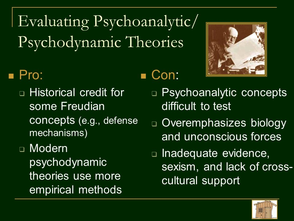 concepts used by freud for psychodynamic Psychodynamic therapy is the psychological interpretation of mental and emotional processes rooted in traditional psychoanalysis, it draws from object relations, ego psychology, and self psychology.