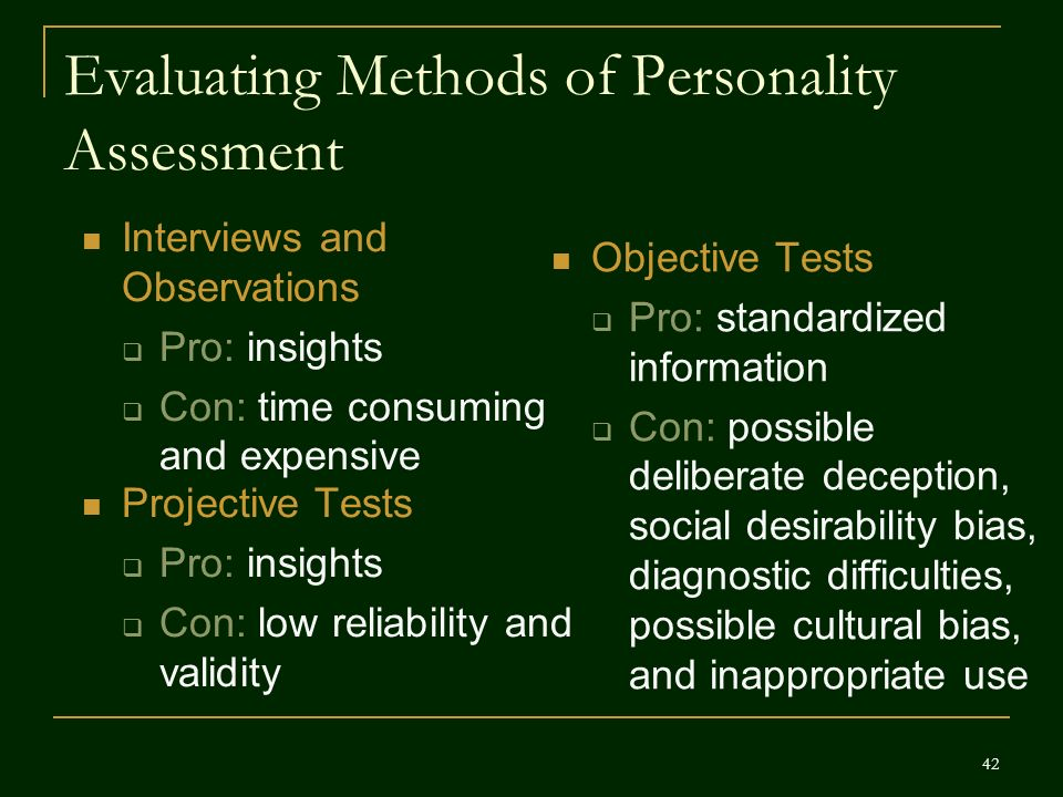 """validity personality assessment That's what i learned from a wildly popular personality test,  raising doubts about """"reliability and validity is like commenting on the tastiness of communion wine or how good a yarmulke ."""