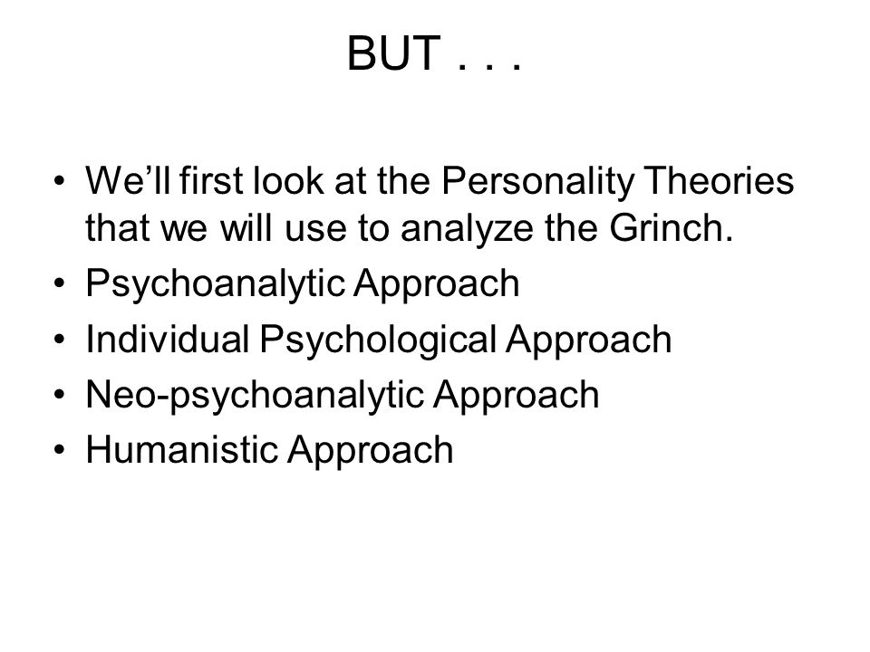 personality theory person analysis