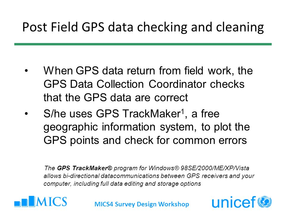 Post Field GPS data checking and cleaning