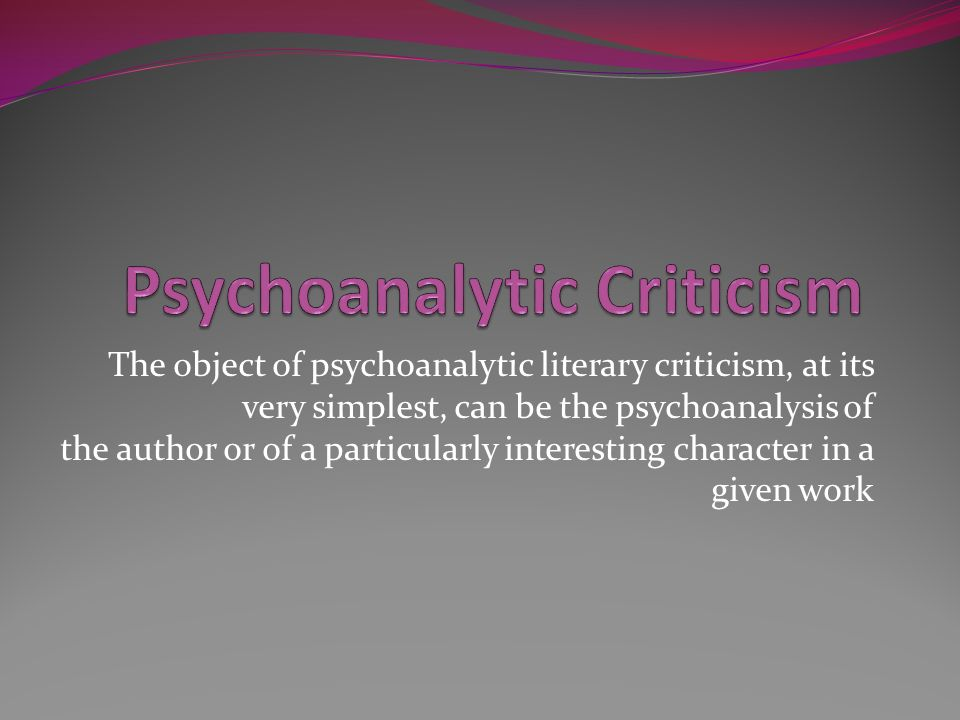 psychoanalysis of crime essay Psychology and crime - research there are many different subfields in psychology this essay discusses developmental psychology and cognitive psychology and major.