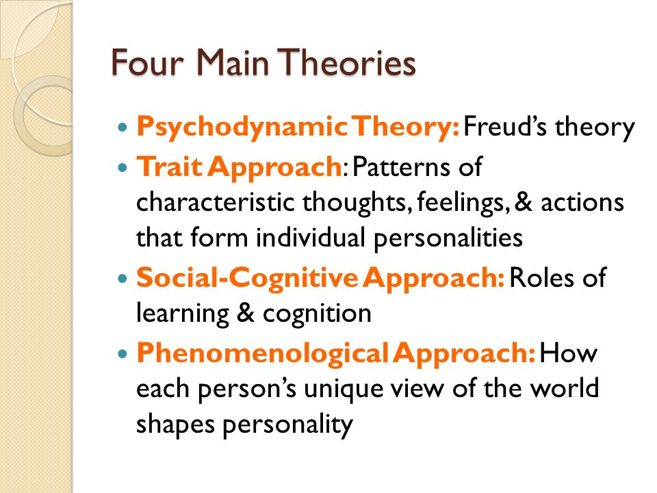 4 personality theorists Home psychology personality the four humors - the ancient origins of personality testing the four humors - the ancient origins of personality testing by aletheia luna 12 comments share stumble pin incorporating his biological theory of personality into his medicinal.