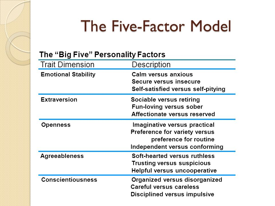 how do the big five personality factors affect negotiation Communication and personality in negotiation everybody negotiates on a regular basis (para 4) three types of nonverbal communication that affect negotiations are body language machiavellianism, face threat sensitivity, and the big five personality factors (lewicki, saunders.