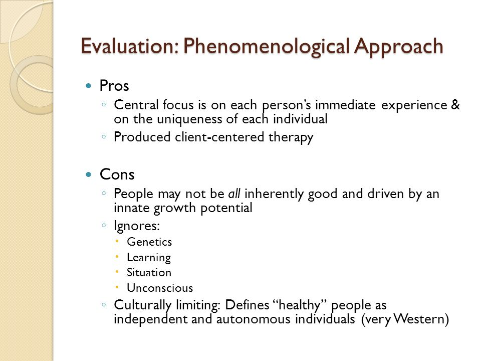 phenomenological research approach In empirical and hermeneutic approaches to phenomenological research in psychology, (2001), serge hein and wendy austin write about the use of bracketing in empirical phenomenology: any time a preconception or personal reaction surfaces, the researcher brackets it, sets it aside, and tries to comprehend the.