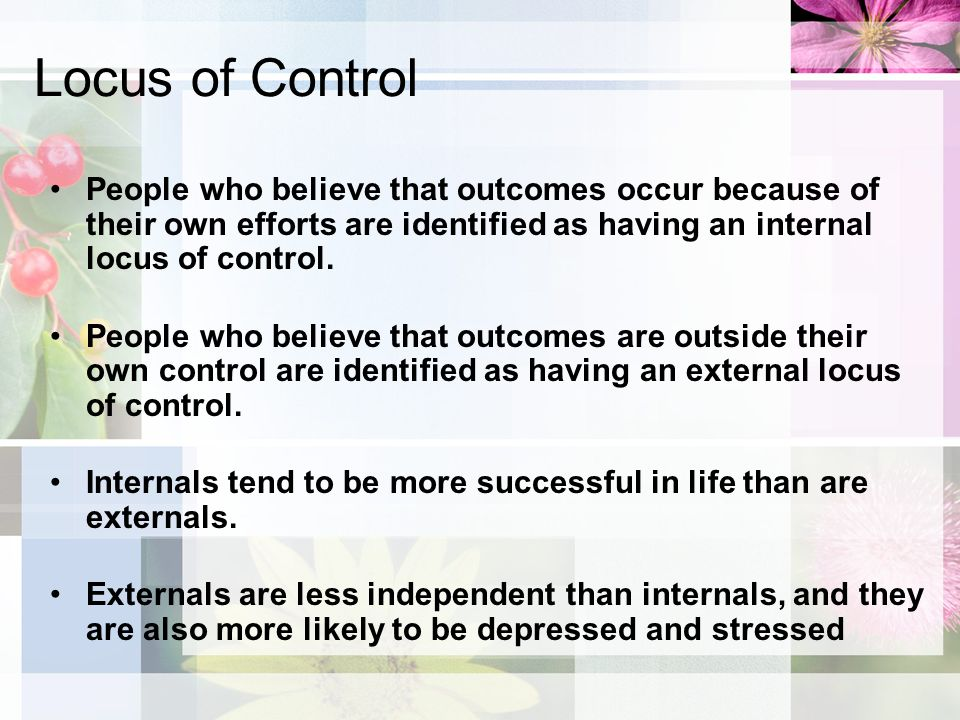 how to help people with external locus of control
