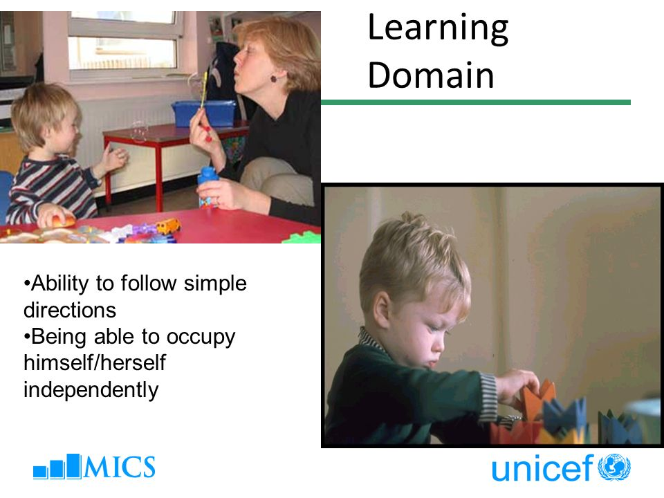 Learning Domain Ability to follow simple directions