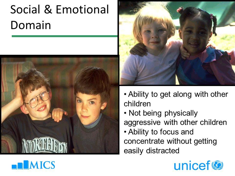 2-3) Maturity Social & Emotional Domain