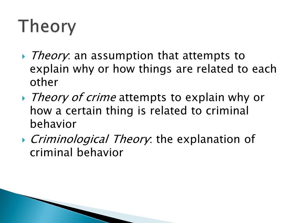 cressey s theory of crime causation Compare and contrast of theories and crime criminology essay print tarde did not agree to lombroso's theory of crime which stated that crime was caused by.