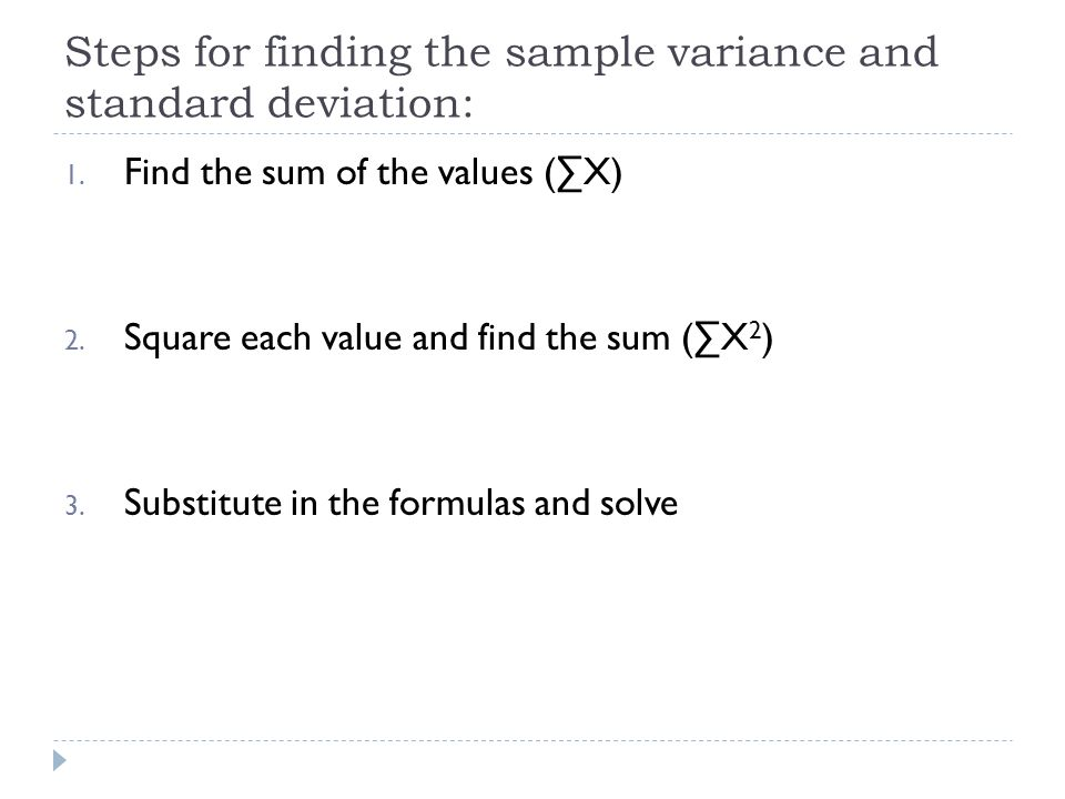 Variance And Standard Deviation - Ppt Download