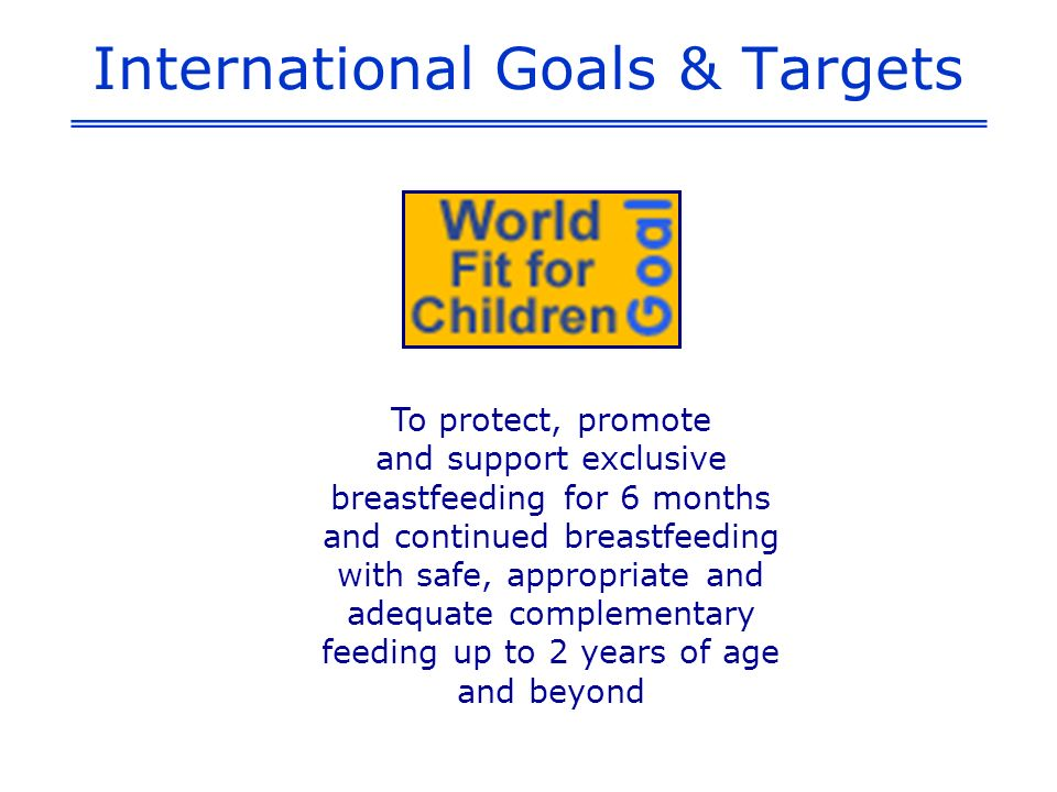 International Goals & Targets