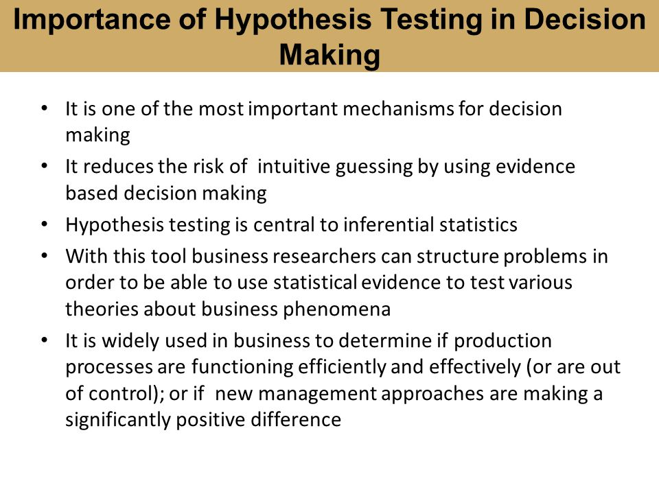nursing research hypothesis testing using inferential statistics