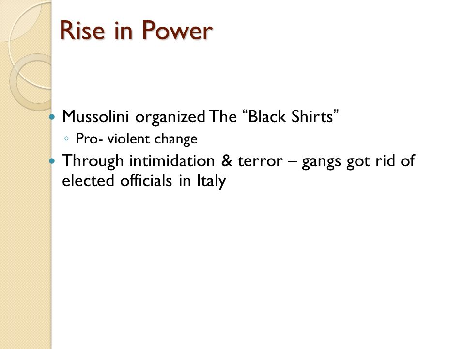 mussolinis successful rise to power by 1922 essay Benito mussolini essays and research papers | examplesessaytodaybiz  mussolini rise to power through the use of  extended essay 2 1 how successful.