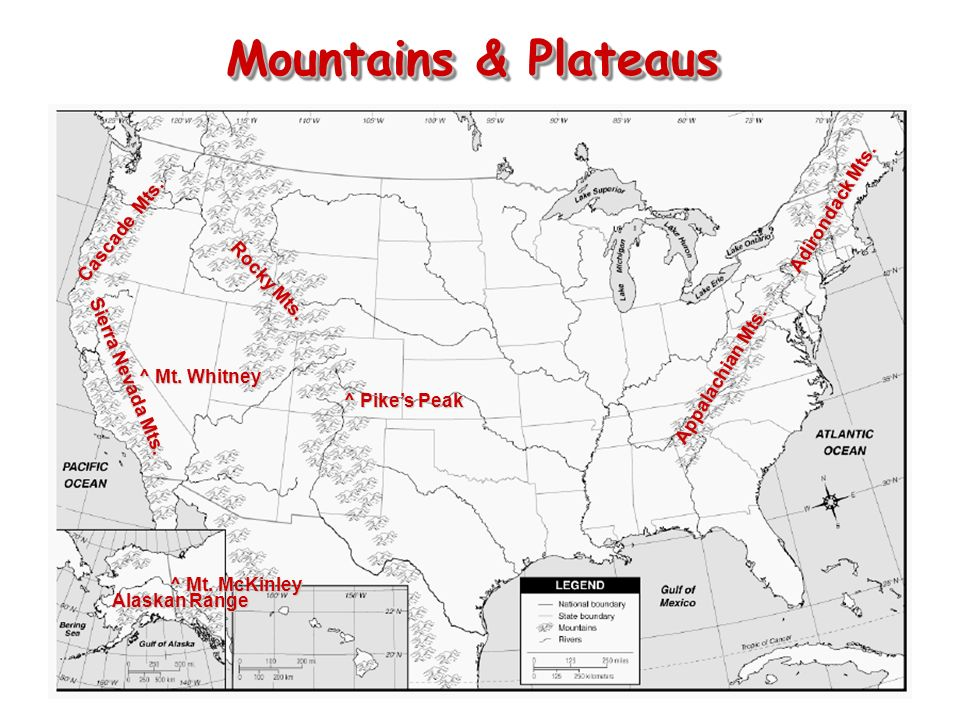 The Geography Of The United States Ppt Download - Mount mckinley on us map