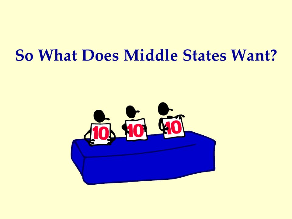 So What Does Middle States Want